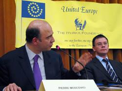 Pierre Moscovici and  Mihai Ungureanu